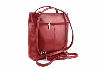 284580752d Kabelka batoh Cereta kožená - červená