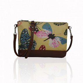 Kabelka Small Crossbody Butterfly Dream - žltá