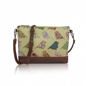 Kabelka Small Crossbody Birds Mania - žltá